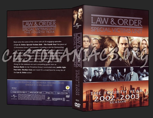 Law and Order - Special Victims Unit dvd cover
