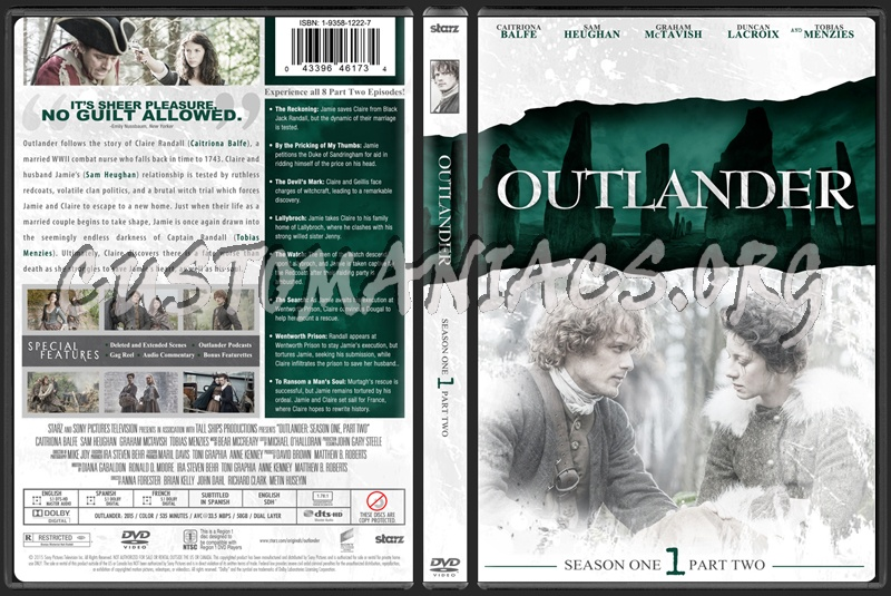Outlander Season 1 Part 2 dvd cover