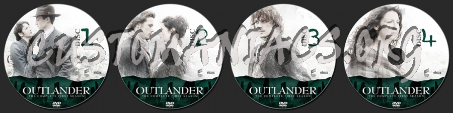 Outlander Season One dvd label
