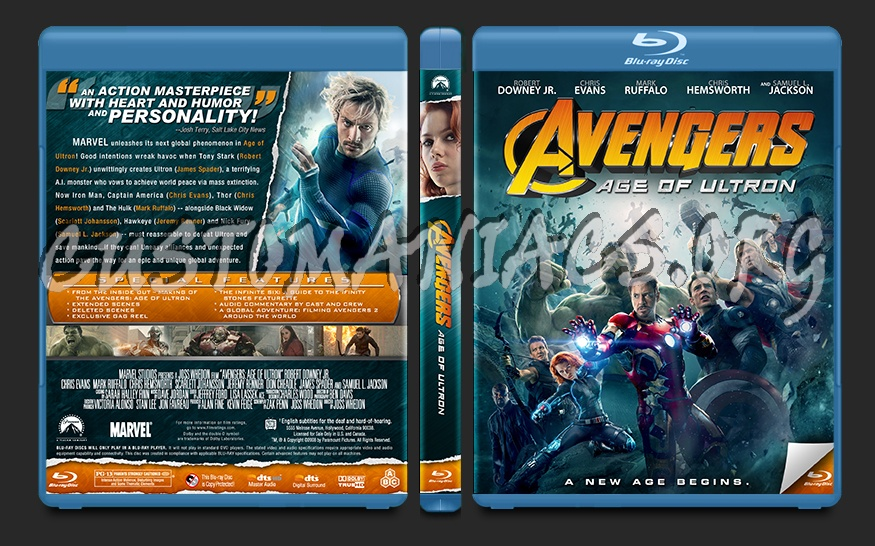 Avengers: Age of Ultron blu-ray cover