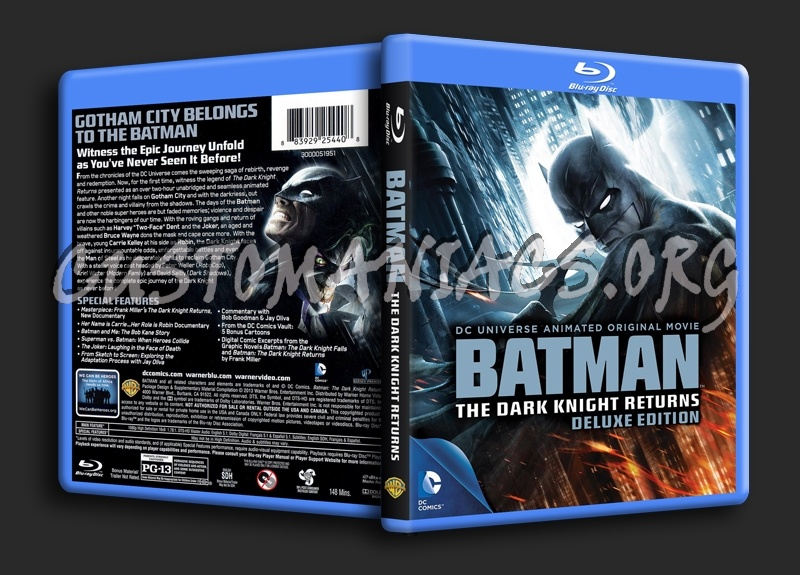 Batman The Dark Knight Returns blu-ray cover