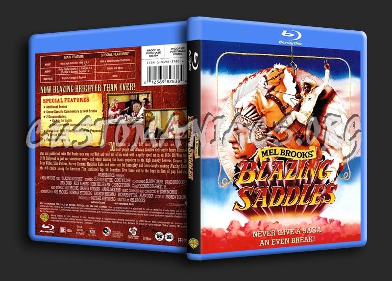 Blazing Saddles blu-ray cover