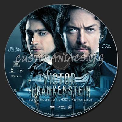 Victor Frankenstein dvd label