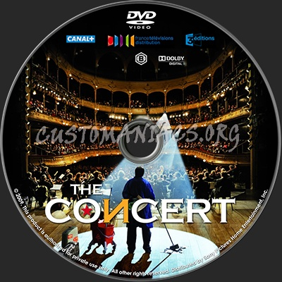 The concert dvd label