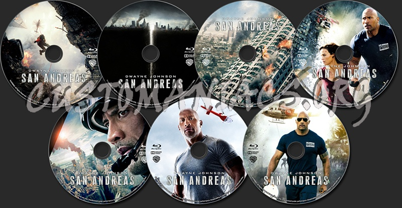 San Andreas (2015) blu-ray label