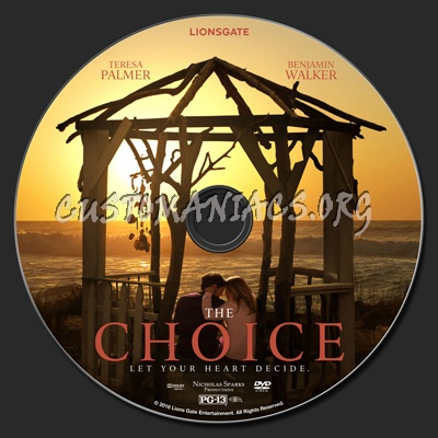 The Choice (2016) dvd label