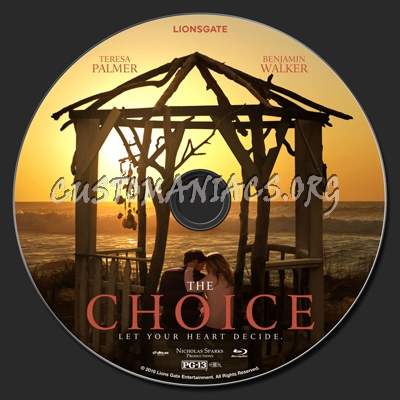 The Choice (2016) blu-ray label