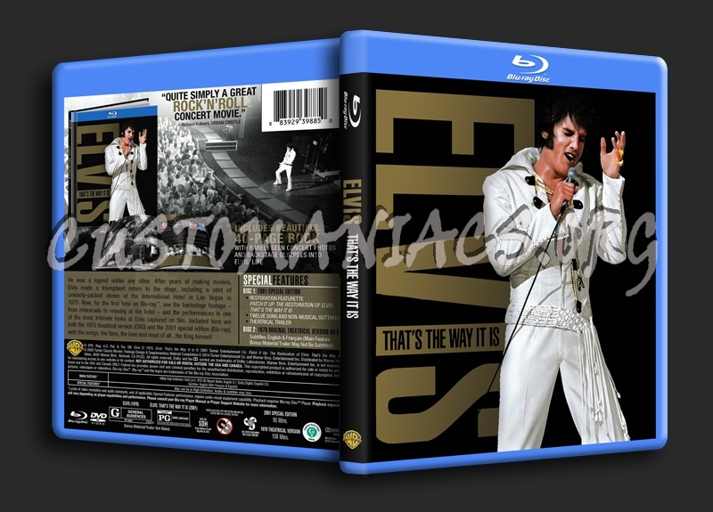 Elvis That's The Way It Is blu-ray cover