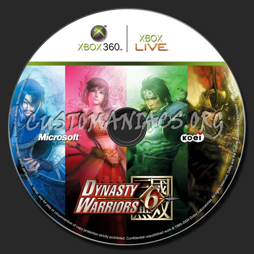 Warriors Orochi 3 Ultimate Delete Save Data: Dynasty Warriors 6 Dvd Label