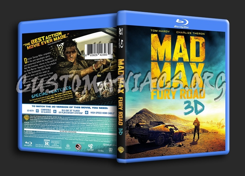 Mad Max Fury Road 3D blu-ray cover