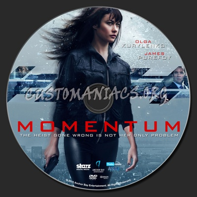 Momentum (2015) dvd label