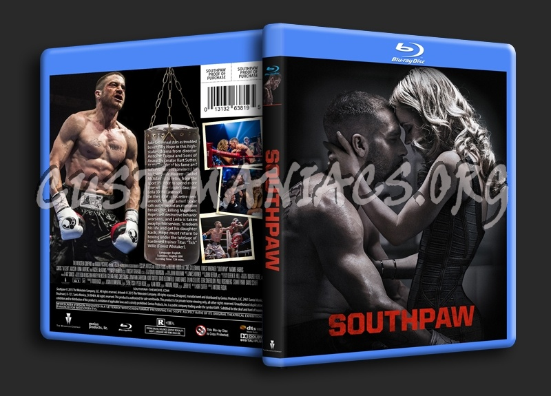 Southpaw blu-ray cover