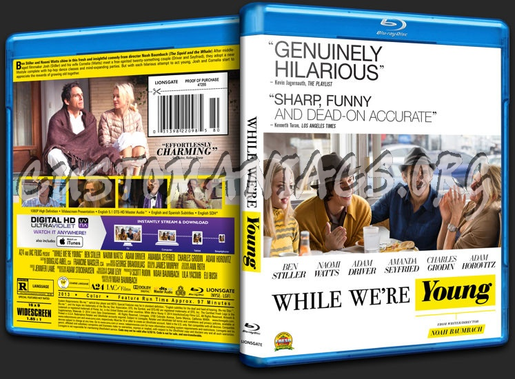While We're Young blu-ray cover