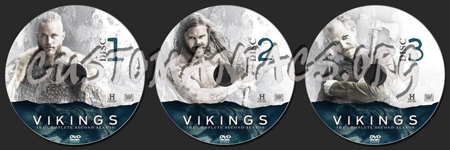 Vikings Season Two dvd label