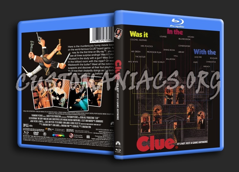 Clue blu-ray cover
