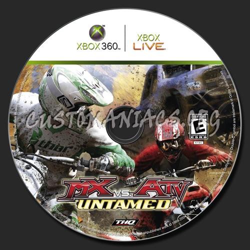 MX vs ATV Untamed dvd label