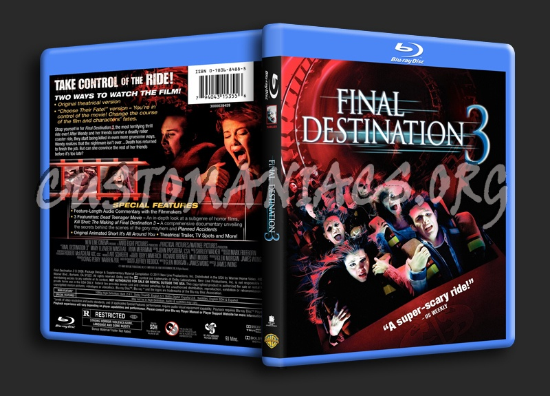 Final Destination 3 blu-ray cover