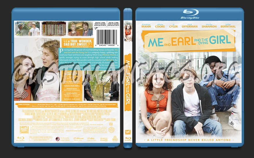 Me and Earl and the Dying Girl blu-ray cover