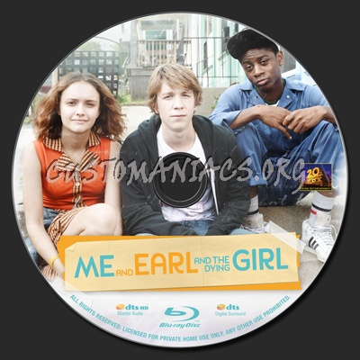 Me and Earl and the Dying Girl blu-ray label