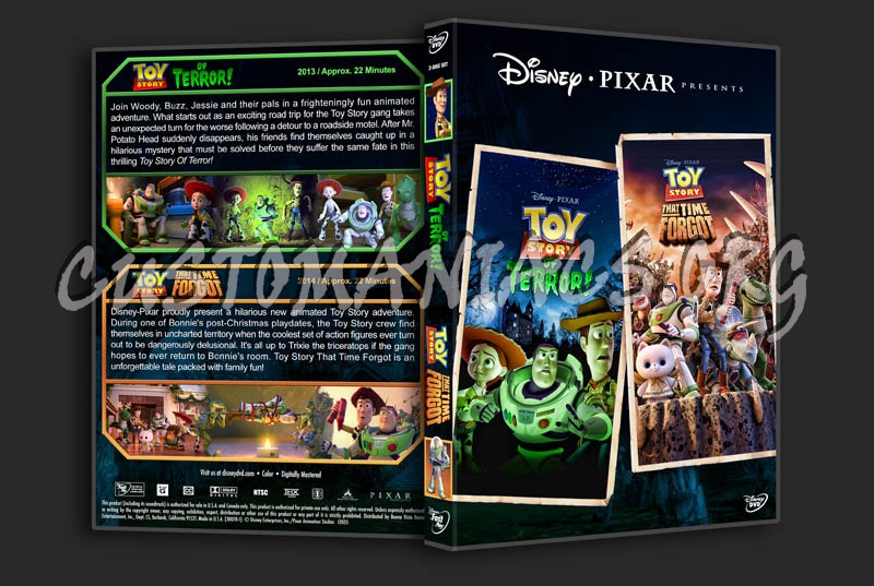 Toy Story of Terror / Toy Story that Time Forgot Double dvd cover