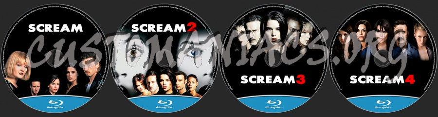 Scream Collection (1,2,3,4) blu-ray label