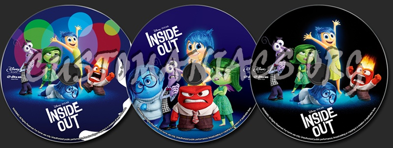 inside out 2015 blu ray label dvd covers labels by. Black Bedroom Furniture Sets. Home Design Ideas