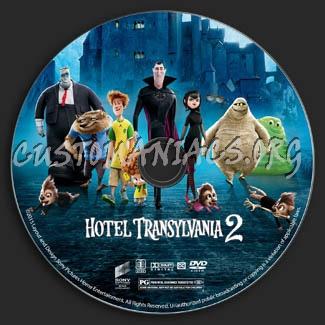Hotel Transylvania 2 dvd label