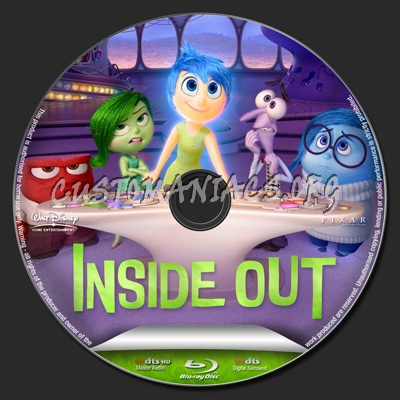 inside out blu ray label dvd covers labels by. Black Bedroom Furniture Sets. Home Design Ideas