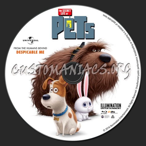 The Secret Life of Pets blu-ray label