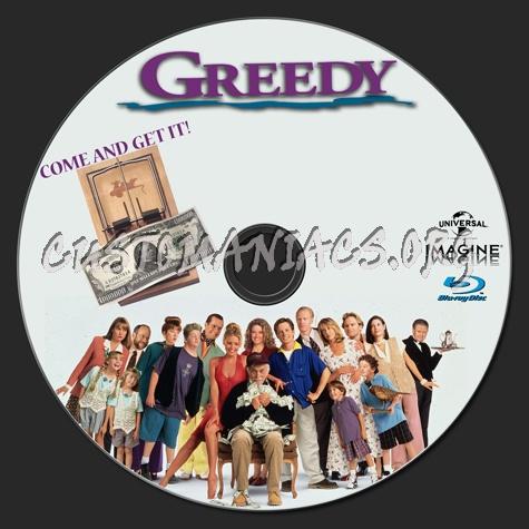 Greedy blu-ray label