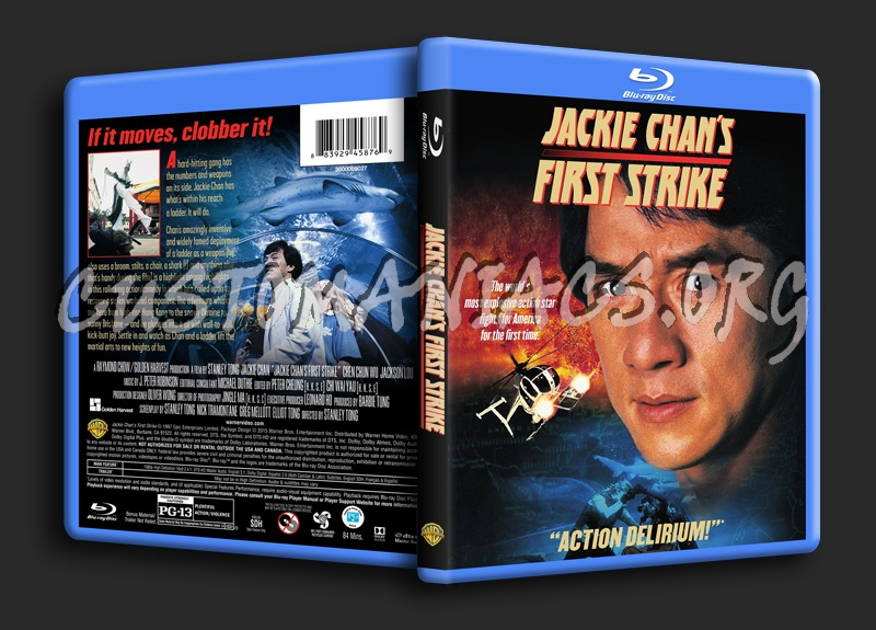 Jackie Chan's First Strike blu-ray cover