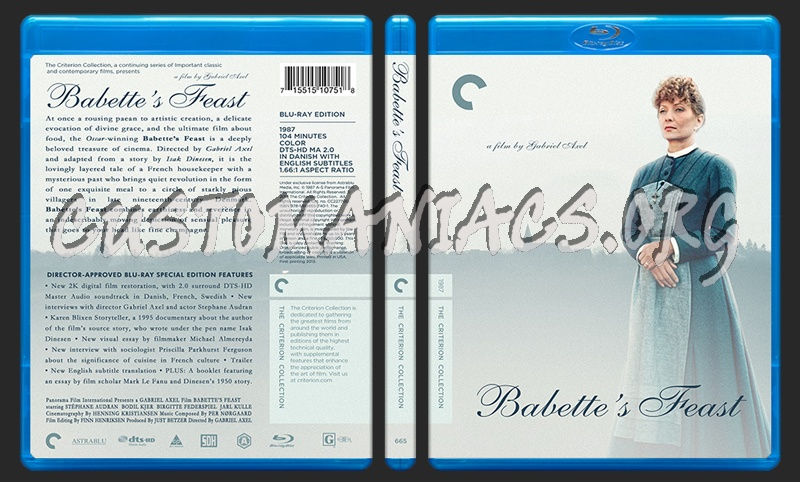 665 - Babettes Feast blu-ray cover