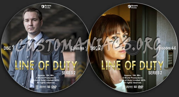 Line of Duty - Series 2 dvd label