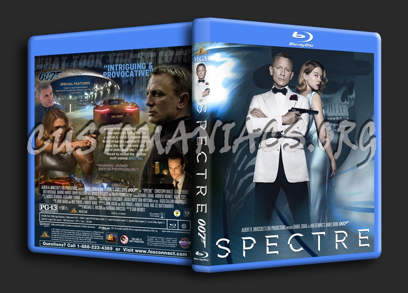 Spectre blu-ray cover