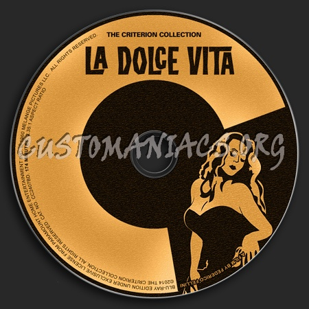 733 - La Dolce Vita dvd label