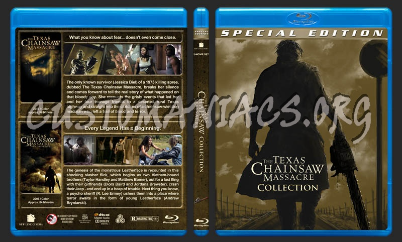 The Texas Chainsaw Massacre Collection blu-ray cover