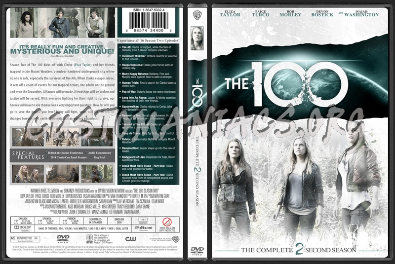 The 100 Season 2 dvd cover