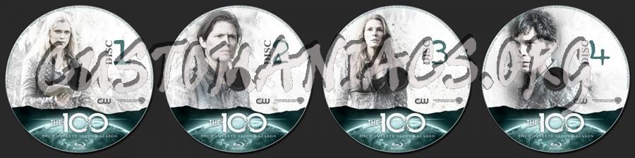 The 100 Season 2 blu-ray label