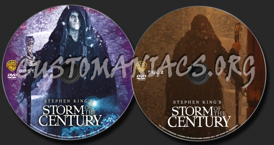 Storm of the Century dvd label