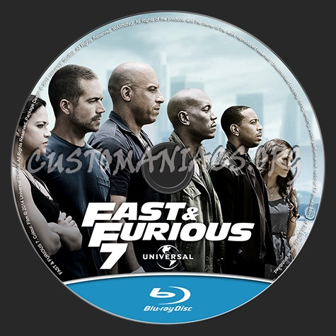fast furious 7 aka furious 7 blu ray label dvd covers labels by customaniacs id 232014. Black Bedroom Furniture Sets. Home Design Ideas