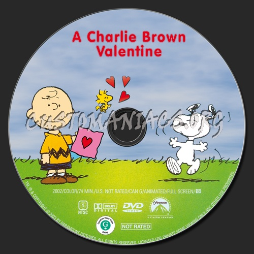 A Charlie Brown Valentine dvd label