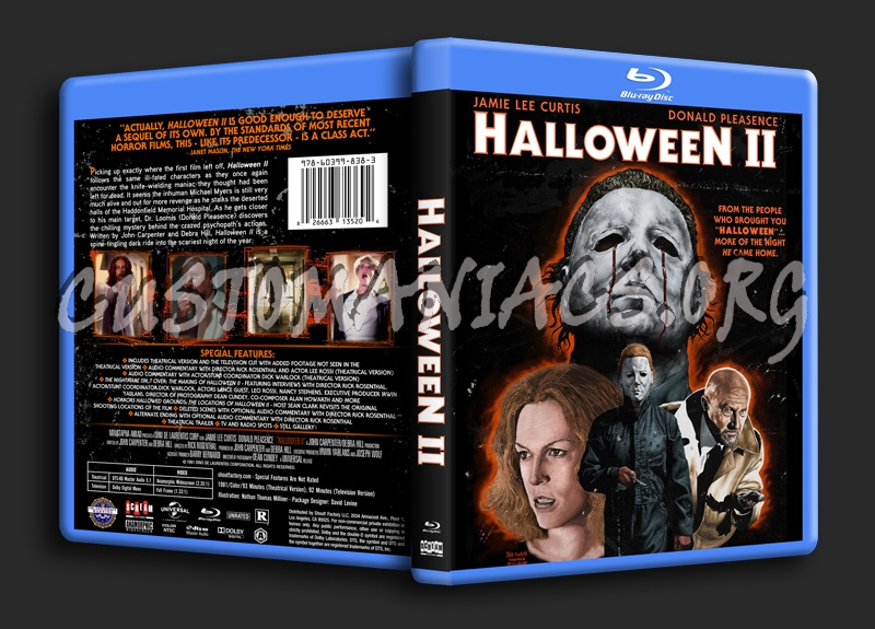 Halloween 2 (1981) blu-ray cover