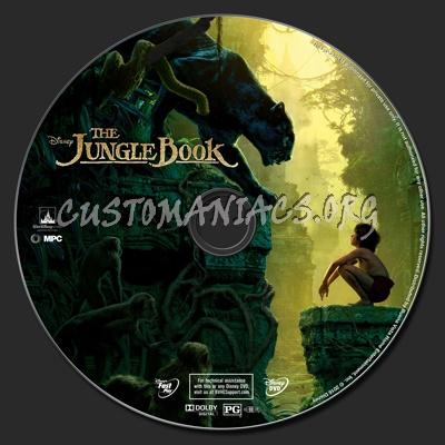 The Jungle Book (2016) dvd label