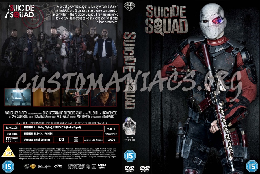 Suicide Squad dvd cover
