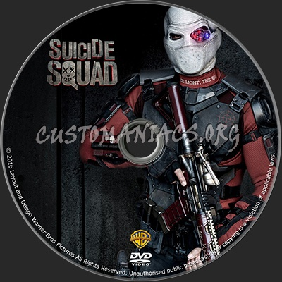 Suicide Squad dvd label
