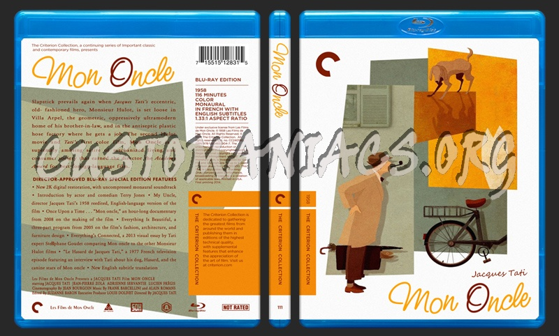 111 - Mon Oncle blu-ray cover