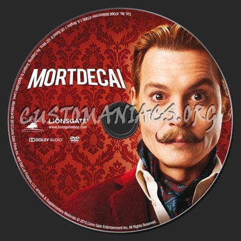 Mortdecai dvd label