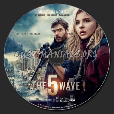 The 5th Wave (aka The Fifth Wave) dvd label - DVD Covers