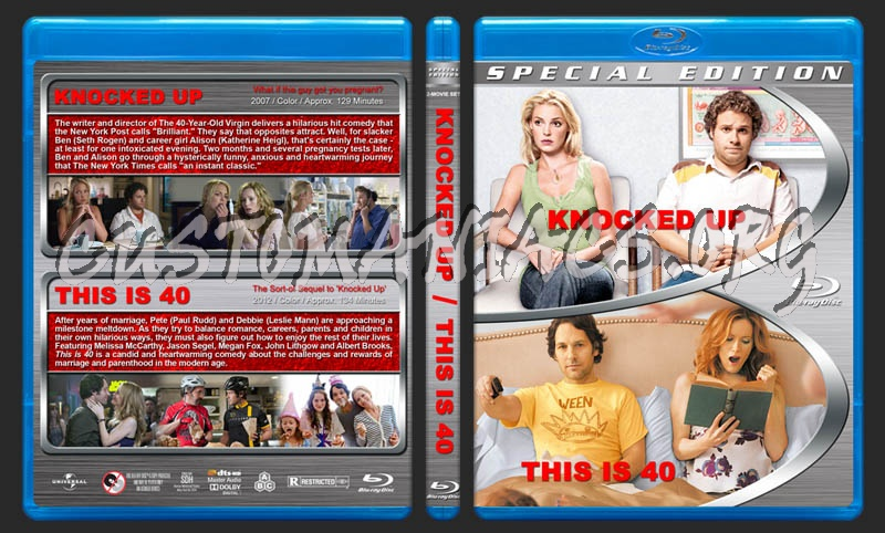 Knocked Up / This is 40 Double Feature blu-ray cover