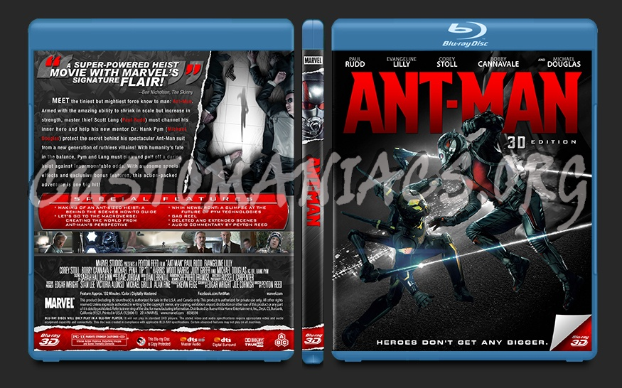 Ant-Man blu-ray cover